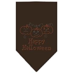 Mirage Pet Products Happy Halloween Rhinestone Bandana Cocoa Small