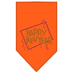 Mirage Pet Products Happy New Year Rhinestone Bandana Orange Small