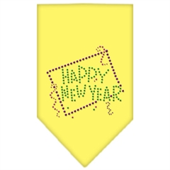 Mirage Pet Products Happy New Year Rhinestone Bandana Yellow Small
