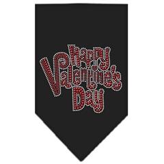 Mirage Pet Products Happy Valentines Day Rhinestone Bandana Black Large