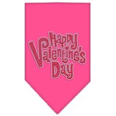 Mirage Pet Products Happy Valentines Day Rhinestone Bandana Bright Pink Small