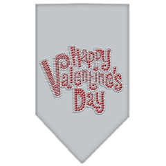 Mirage Pet Products Happy Valentines Day Rhinestone Bandana Grey Small