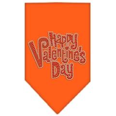 Mirage Pet Products Happy Valentines Day Rhinestone Bandana Orange Large