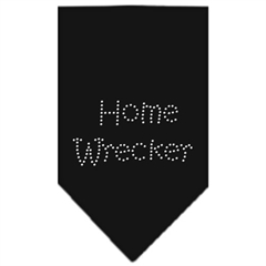 Mirage Pet Products Home Wrecker Rhinestone Bandana Black Large