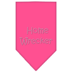 Mirage Pet Products Home Wrecker Rhinestone Bandana Bright Pink Small