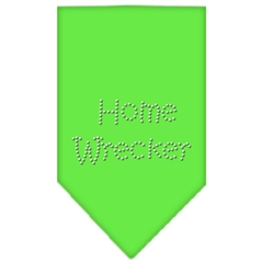 Mirage Pet Products Home Wrecker Rhinestone Bandana Lime Green Large