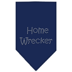 Mirage Pet Products Home Wrecker Rhinestone Bandana Navy Blue large