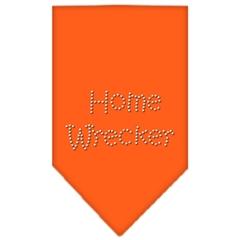 Mirage Pet Products Home Wrecker Rhinestone Bandana Orange Large