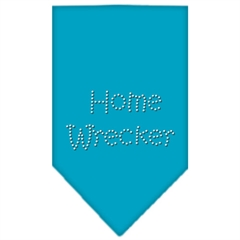 Mirage Pet Products Home Wrecker Rhinestone Bandana Turquoise Small