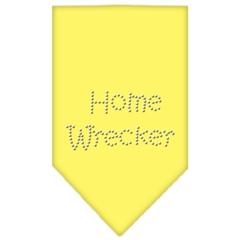 Mirage Pet Products Home Wrecker Rhinestone Bandana Yellow Large