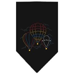 Mirage Pet Products Hot Air Balloons Rhinestone Bandana Black Small