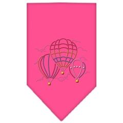 Mirage Pet Products Hot Air Balloons Rhinestone Bandana Bright Pink Large