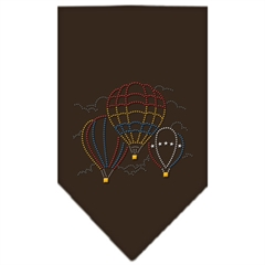 Mirage Pet Products Hot Air Balloons Rhinestone Bandana Cocoa Small