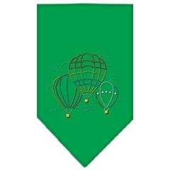 Mirage Pet Products Hot Air Balloons Rhinestone Bandana Emerald Green Large