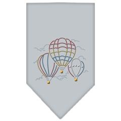 Mirage Pet Products Hot Air Balloons Rhinestone Bandana Grey Large