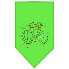 Mirage Pet Products Hot Air Balloons Rhinestone Bandana Lime Green Large