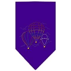 Mirage Pet Products Hot Air Balloons Rhinestone Bandana Purple Small