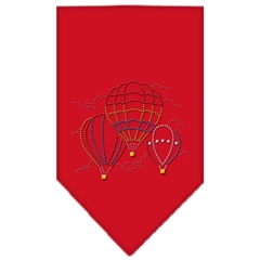 Mirage Pet Products Hot Air Balloons Rhinestone Bandana Red Small