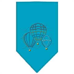 Mirage Pet Products Hot Air Balloons Rhinestone Bandana Turquoise Large