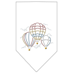 Mirage Pet Products Hot Air Balloons Rhinestone Bandana White Large