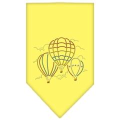 Mirage Pet Products Hot Air Balloons Rhinestone Bandana Yellow Small