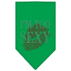 Mirage Pet Products I'm Too Sexy Rhinestone Bandana Emerald Green Small