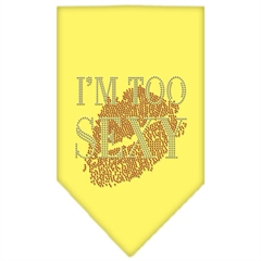 Mirage Pet Products I'm Too Sexy Rhinestone Bandana Yellow Small