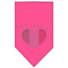 Mirage Pet Products Italy  Rhinestone Bandana Bright Pink Large