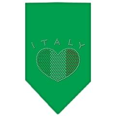 Mirage Pet Products Italy  Rhinestone Bandana Emerald Green Small