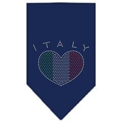 Mirage Pet Products Italy  Rhinestone Bandana Navy Blue large