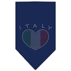Mirage Pet Products Italy  Rhinestone Bandana Navy Blue Small