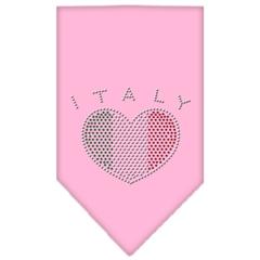 Mirage Pet Products Italy  Rhinestone Bandana Light Pink Small