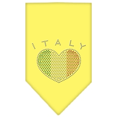 Mirage Pet Products Italy  Rhinestone Bandana Yellow Large
