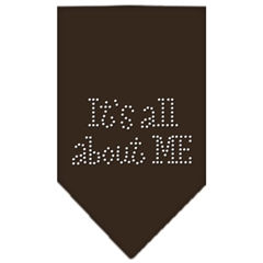 Mirage Pet Products Its All About Me Rhinestone Bandana Cocoa Large