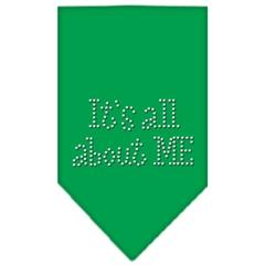 Mirage Pet Products Its All About Me Rhinestone Bandana Emerald Green Large