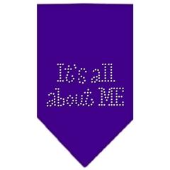 Mirage Pet Products Its All About Me Rhinestone Bandana Purple Small