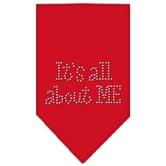 Mirage Pet Products Its All About Me Rhinestone Bandana Red Large