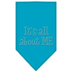 Mirage Pet Products Its All About Me Rhinestone Bandana Turquoise Small