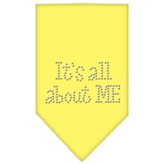 Mirage Pet Products Its All About Me Rhinestone Bandana Yellow Large