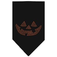 Mirage Pet Products Jack O Lantern Rhinestone Bandana Black Large