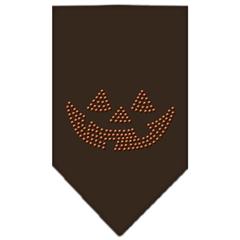 Mirage Pet Products Jack O Lantern Rhinestone Bandana Cocoa Large