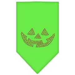 Mirage Pet Products Jack O Lantern Rhinestone Bandana Lime Green Large
