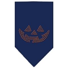Mirage Pet Products Jack O Lantern Rhinestone Bandana Navy Blue Small