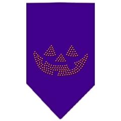 Mirage Pet Products Jack O Lantern Rhinestone Bandana Purple Large