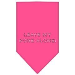 Mirage Pet Products Leave My Bone Alone Rhinestone Bandana Bright Pink Small