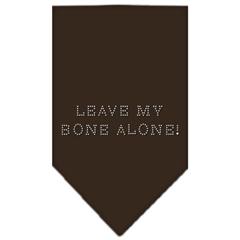 Mirage Pet Products Leave My Bone Alone Rhinestone Bandana Cocoa Large