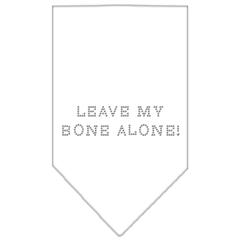 Mirage Pet Products Leave My Bone Alone Rhinestone Bandana White Small