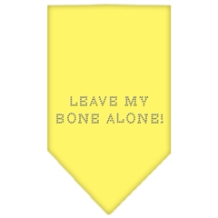 Mirage Pet Products Leave My Bone Alone Rhinestone Bandana Yellow Large