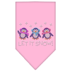 Mirage Pet Products Let It Snow Penguins Rhinestone Bandana Light Pink Small