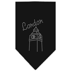 Mirage Pet Products London Rhinestone Bandana Black Large
